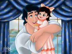 мультфильмы, the, little, mermaid, парень, девочка