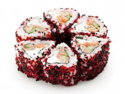 еда, рыба, морепродукты, суши, роллы, икра