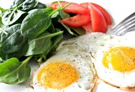 еда, Яичные, блюда, яичница, базилик, специи, помидоры