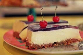 еда, пирожные, кексы, печенье, торт, вишенка