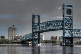 main, street, bridge, jacksonville, florida, города, мосты, флорида, река, джексонвилл