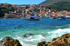греция, рarga, города, улицы, площади, набережные, дома, море