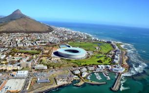 cape, town, города, кейптаун, юар, панорама, океан, гора, бухта, причалы