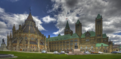 обои для рабочего стола 4000x1958 города, оттава, канада, парламент