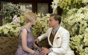 кино, фильмы, the, great, gatsby, цветы, женщина, мужчина