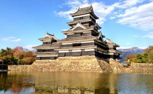 matumoto&, 12288, castle, города, замки, Японии, вода, замок, Япония