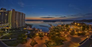 города, панорамы, орландо, флорида, сша