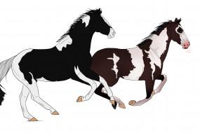 обои для рабочего стола 3000x2000 рисованные, животные, лошади
