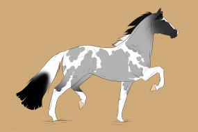 обои для рабочего стола 3000x2000 рисованные, животные, лошади, лошадь