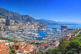 города, монте, карло, монако, порт, море, лайнер
