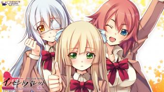 innocent, bullet, аниме, девушки