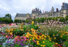 Франция Иль-де-Франс Фонтенбло обои для рабочего стола 2046x1409 франция, иль, де, франс, фонтенбло, города, дворцы, замки, крепости, дворцовый, комплекс, цветы, клумба, парк