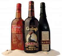 бренды, gosling`s, ром, бутылки, алкоголь