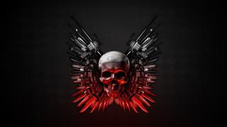 expendables 2, кино фильмы, the expendables 2, оружие, череп