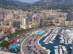 города, монте-карло , монако, море, панорама, побережье, дома
