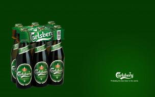 бренды, carlsberg, бутылки, зеленый