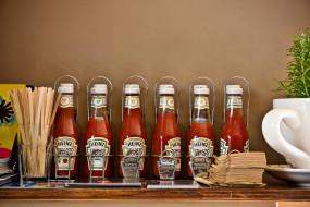 бренды, heinz, кетчуп, бутылки
