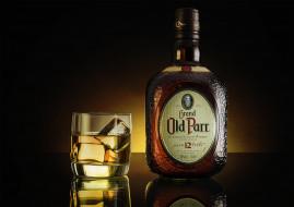 grand old parr, бренды, отражение, бутылка, стакан, шотландский, виски, scotch, whisky, grand, old, parr