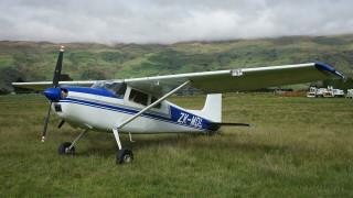 cessna 180a skywagon, авиация, кабина пилотов, легкий, трава, самолет, поле, одномоторный
