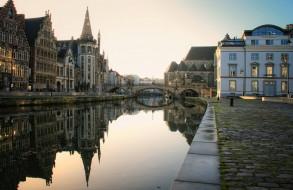 Гент Бельгия обои для рабочего стола 2400x1560 гент бельгия, города, - улицы,  площади,  набережные, набережная, дома, гент, бельгия, канал