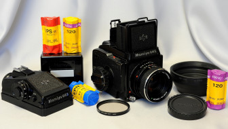 обои для рабочего стола 2098x1189 бренды, mamiya, фотоплёнки, фотоаппарат, m645, j, объектив, крышка