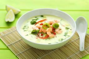 обои для рабочего стола 3600x2400 еда, рыбные блюда,  с морепродуктами, креветка, кокосовый, суп