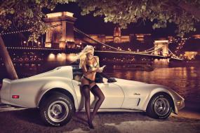 leonie hagmeyer-reyinger, автомобили, авто с девушками, авто, мост