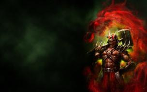 Mortal Kombat обои для рабочего стола 1920x1200 mortal kombat, видео игры, mortal kombat , 2011, император, shao, kahn, шао, кан, молот, mortal, kombat