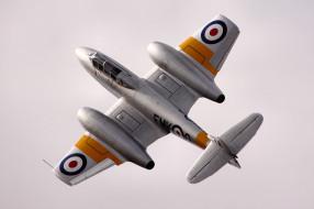 авиация, 3д, рисованые, v-graphic, gloster, meteor, истребитель, реактивный, британский, полет