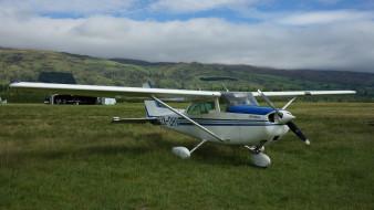 cessna 172m skyhawk, авиация, лёгкие и одномоторные самолёты, трава, поле, самолет, одномоторный, легкий