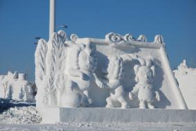 снег, фигуры