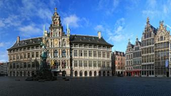Антверпен Бельгия обои для рабочего стола 3072x1728 антверпен бельгия, города, - улицы,  площади,  набережные, памятник, бельгия, антверпен, площадь, улицы, дома