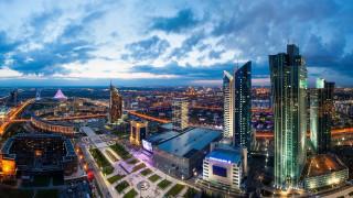 astana city,  kazakhstan, города, астана , казахстан, облака, небо, высотки, панорама, здания