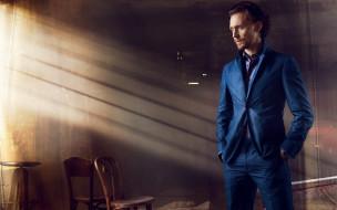 том хиддлстон, мужчина, синий, tom hiddleston, костюм, актер