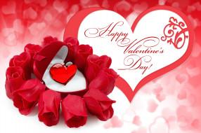 праздничные, день святого валентина,  сердечки,  любовь, розы, сердечко
