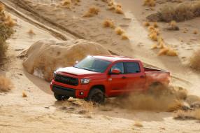 2014 Toyota Tundra TRD обои для рабочего стола 2048x1365 2014 toyota tundra trd, автомобили, toyota, красный, пустыня, песок, tundra, пикап
