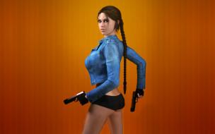 девушка, видео игры, tomb raider,  legend, tomb, raider, оружие