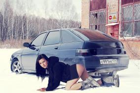 Автомобили авто с девушками 2112 ваз