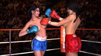 Негр боксер трахает на ринге девку еще