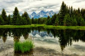 обои для рабочего стола 2048x1366 природа, реки, озера, горы, лес, озеро, отражение