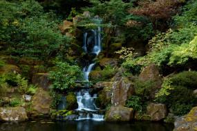 Японский сад обои для рабочего стола 3072x2048 Японский сад, природа, водопады, водопад, сад, Японский, орегон, portland