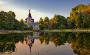 города, - православные церкви,  монастыри, отражение, храм, вода