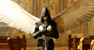 league of legends, видео игры, ангел, меч