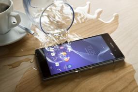 бренды, sony, водонепроницаемый, смартфон, вода, z2, xperia