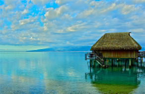 Moorea   French Polynesia обои для рабочего стола 2000x1302 moorea   french polynesia, природа, тропики, moorea, french, polynesia, бунгало, море