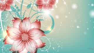 векторная графика, цветы, фон