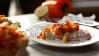 обои для рабочего стола 1920x1096 еда, рыбные блюда,  с морепродуктами, ананас, сальса, сливочно, кокосовый, лосось