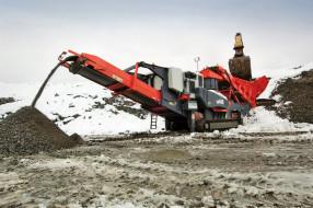 SANDVIK Stone Crusher обои для рабочего стола 2048x1361 sandvik stone crusher, техника, строительная техника, экскаватор, ленточный, транспортёр, карьер