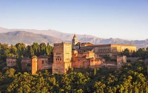ancient arabic fortress of alhambra,  granada,  spain, города, - дворцы,  замки,  крепости, горы, цитадель, крепость, замок, испания, гранада, альгамбра, spain, granada, alhambra