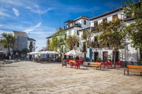 granada,  spain, города, - улицы,  площади,  набережные, spain, гранада, испания, площадь, уличное, кафе, здания, скамейки